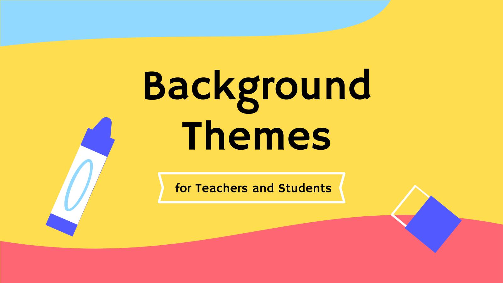 Plantilla de presentación Fondos de videollamada para profesores y alumnos