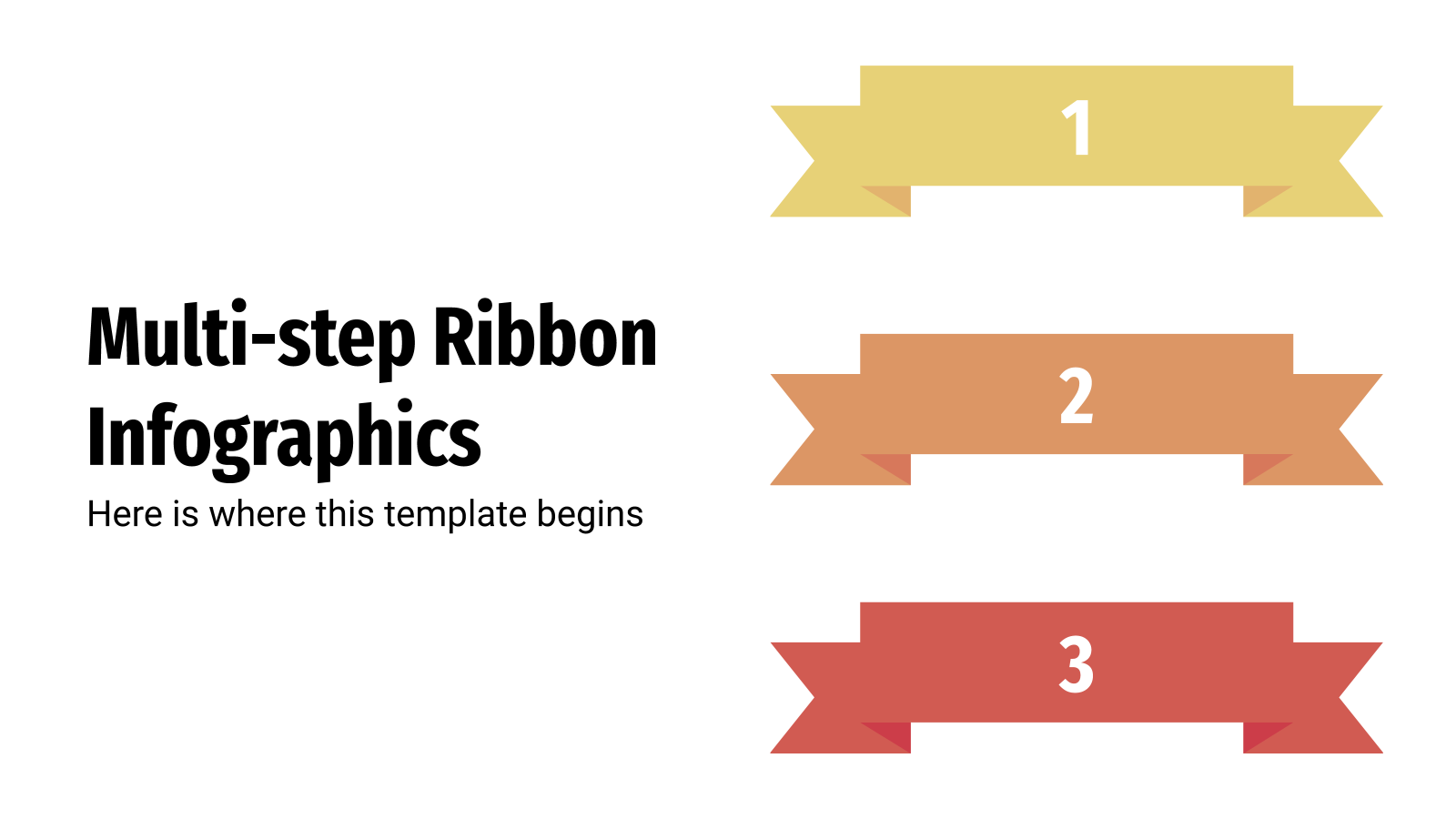 Multi-step Ribbon Infographics presentation template