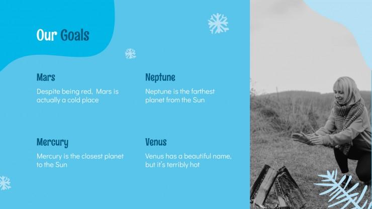 Vacances d'hiver : Modèles de présentation