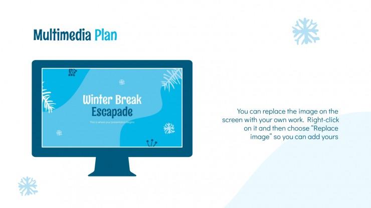 Plantilla de presentación Vacaciones de invierno
