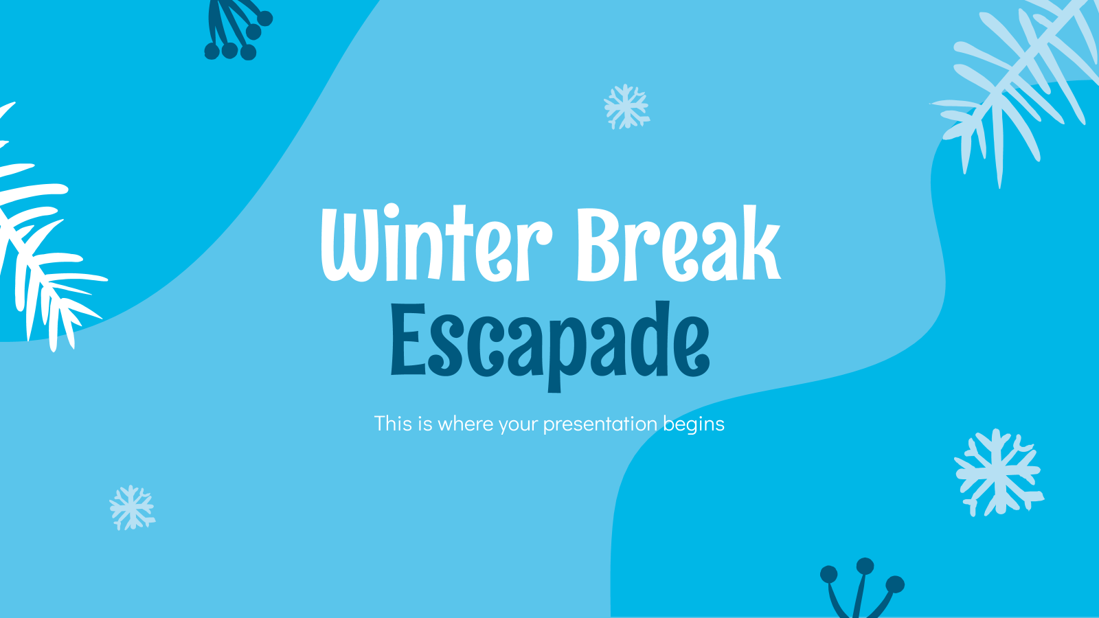 Winter Break Escapade presentation template