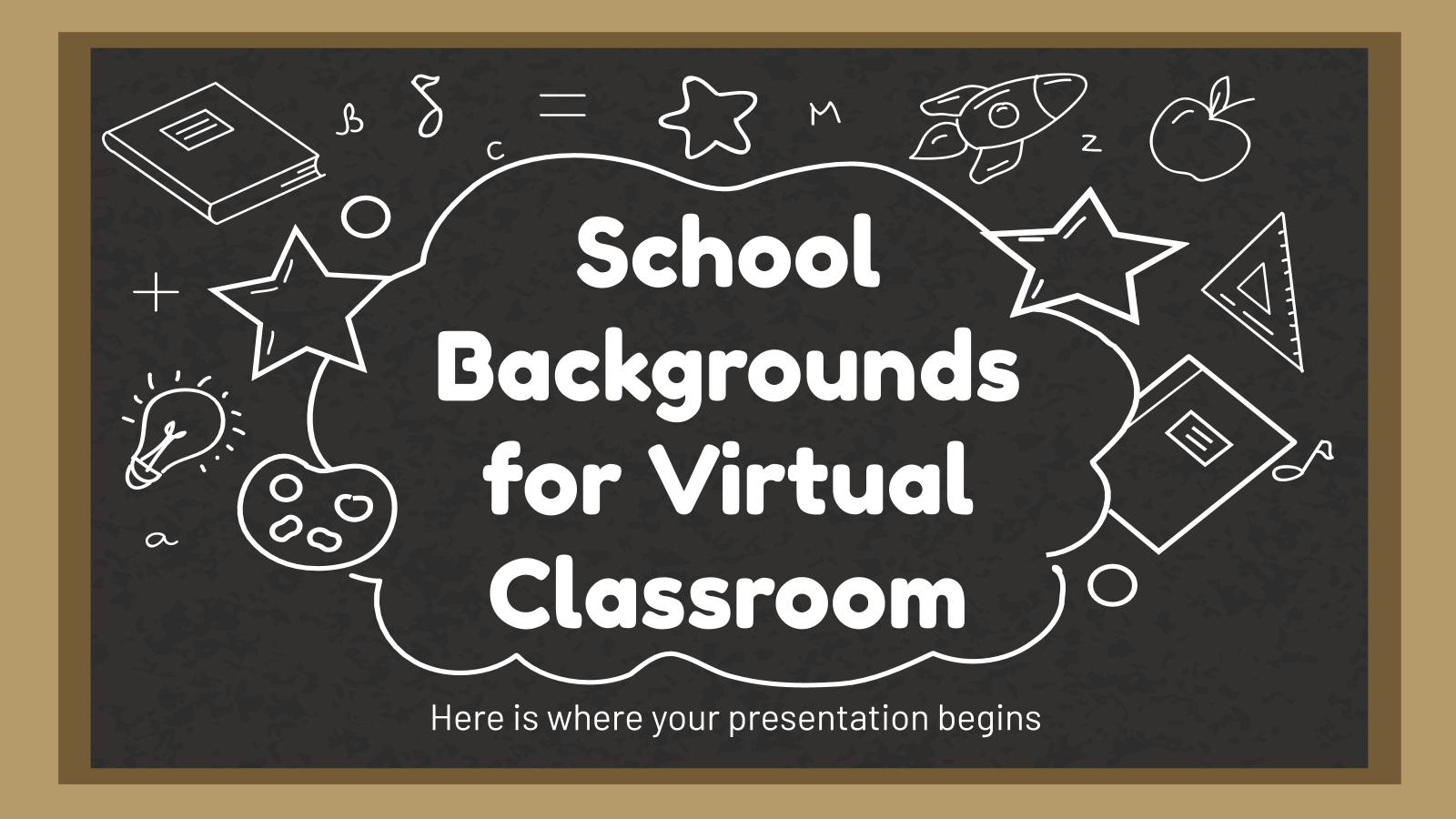 Modelo de apresentação Plano de fundo de escola para aula virtual