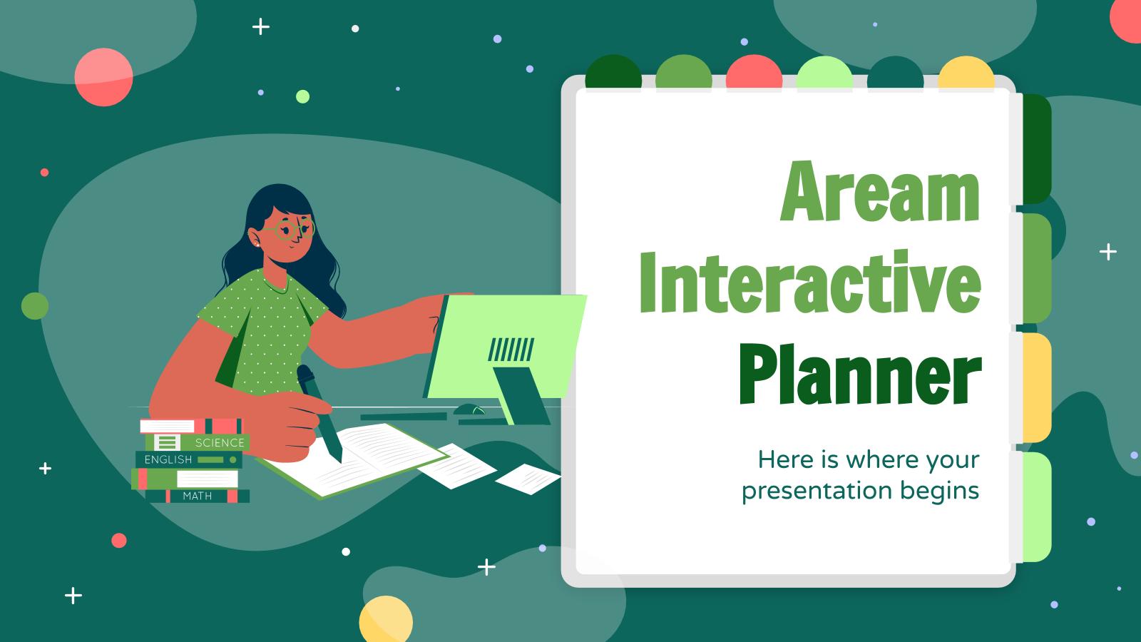 Modelo de apresentação Agenda interativa Aream