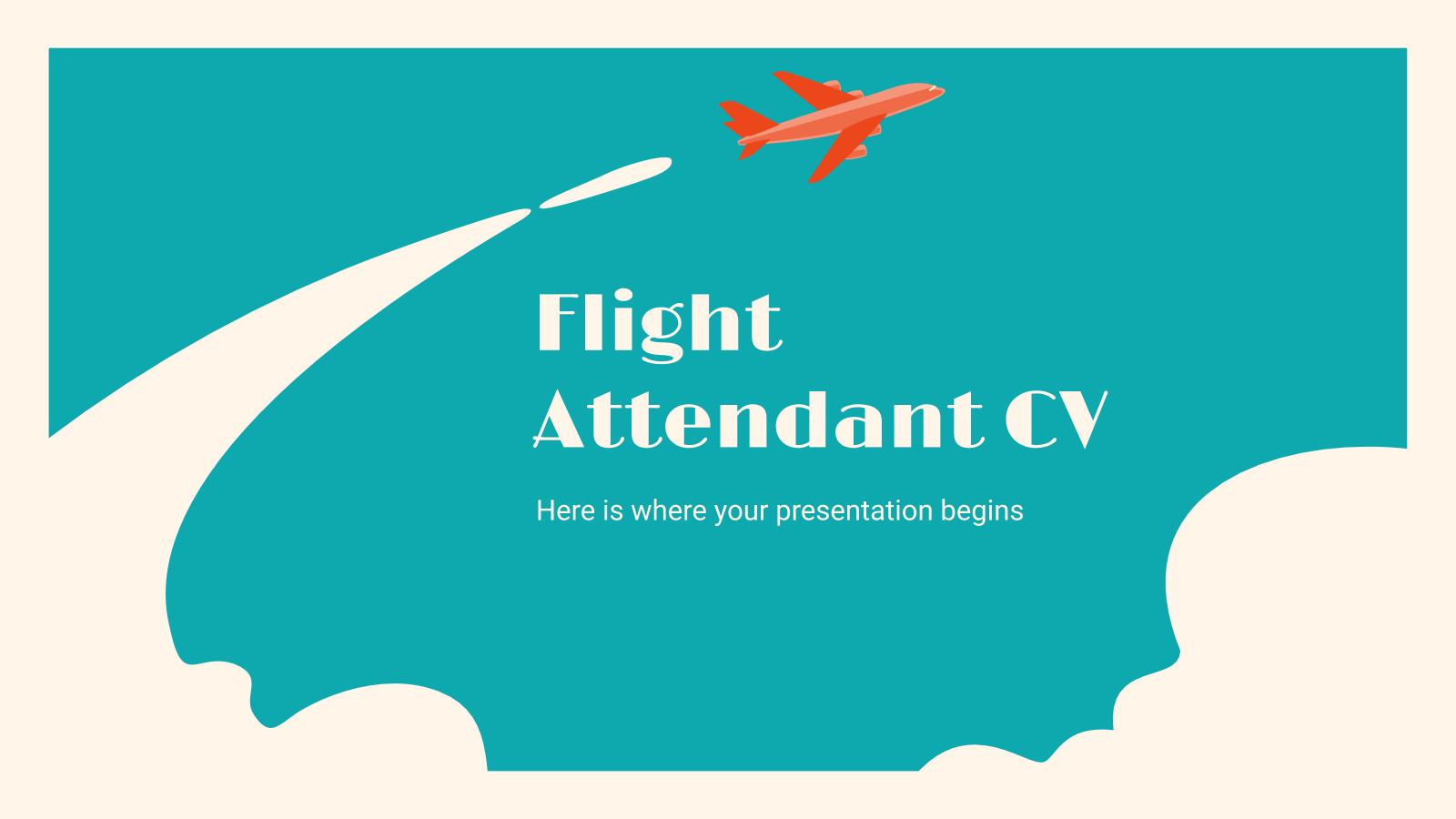 Plantilla de presentación CV de auxiliar de vuelo