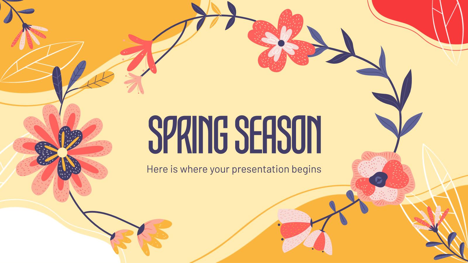 Spring Season presentation template