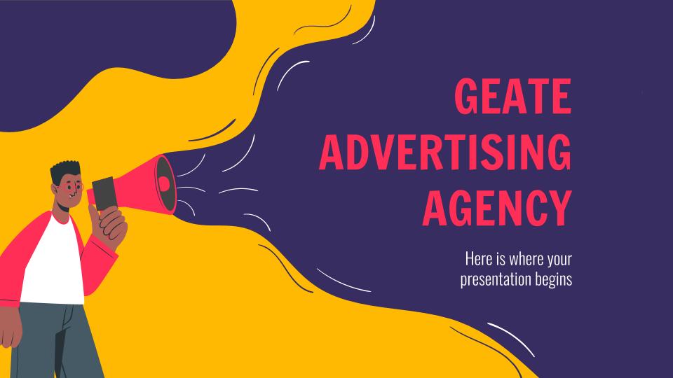 Plantilla de presentación Agencia de publicidad Geate
