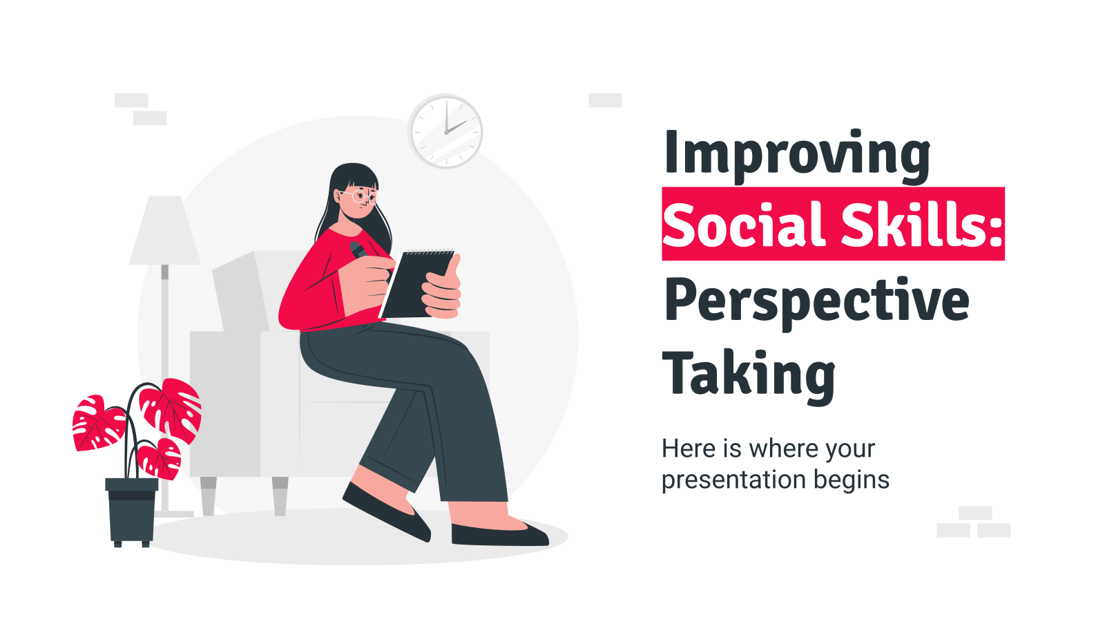 Improving Social Skills: Perspective Taking presentation template