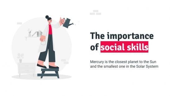 Modelo de apresentação Aprimore suas habilidades sociais: tomar distância