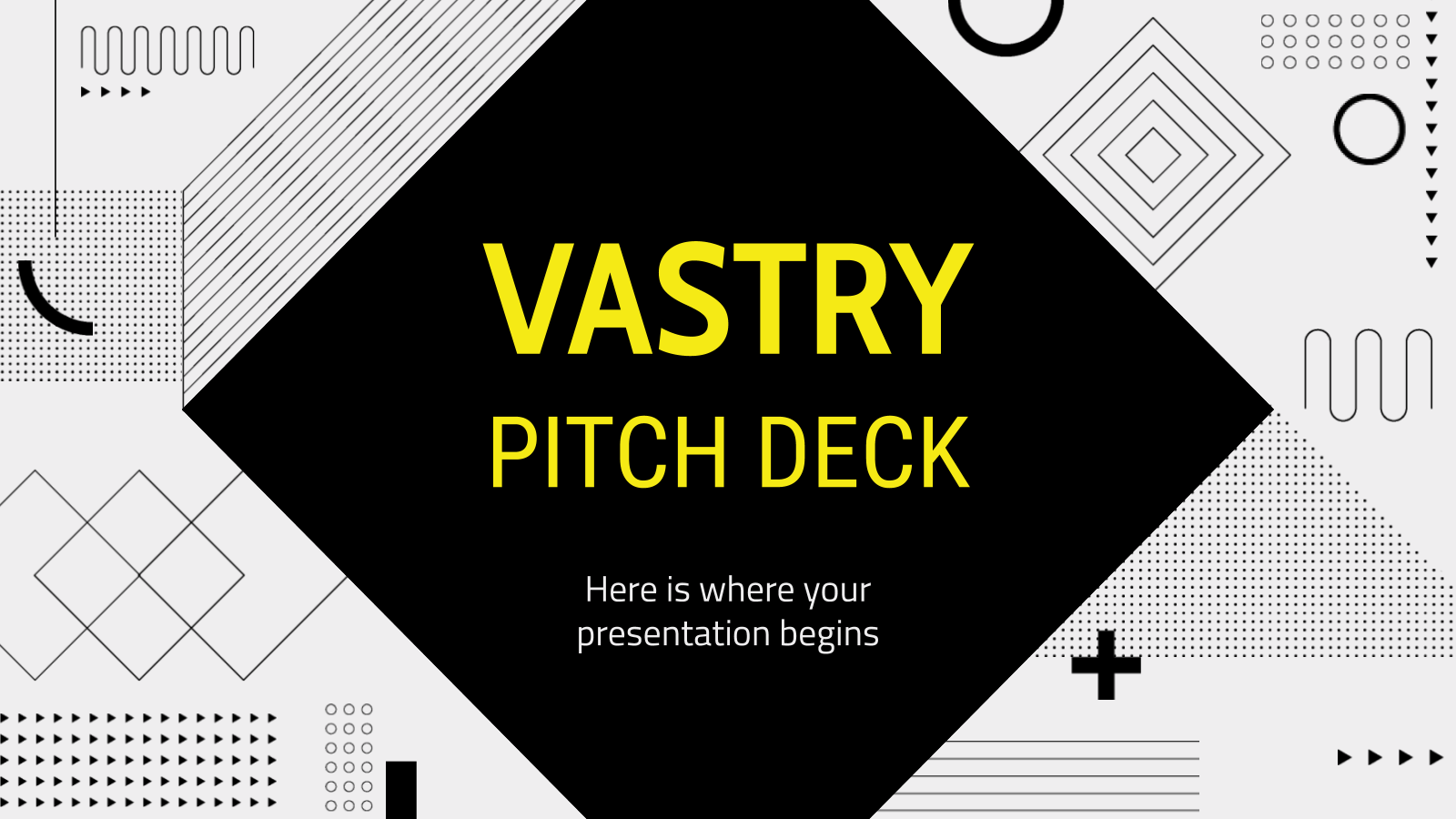 Vastry Pitch Deck presentation template