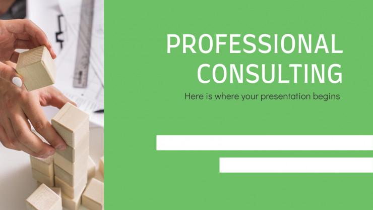 Plantilla de presentación Consultores profesionales