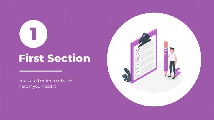 Plantilla de presentación Diapositivas para startups