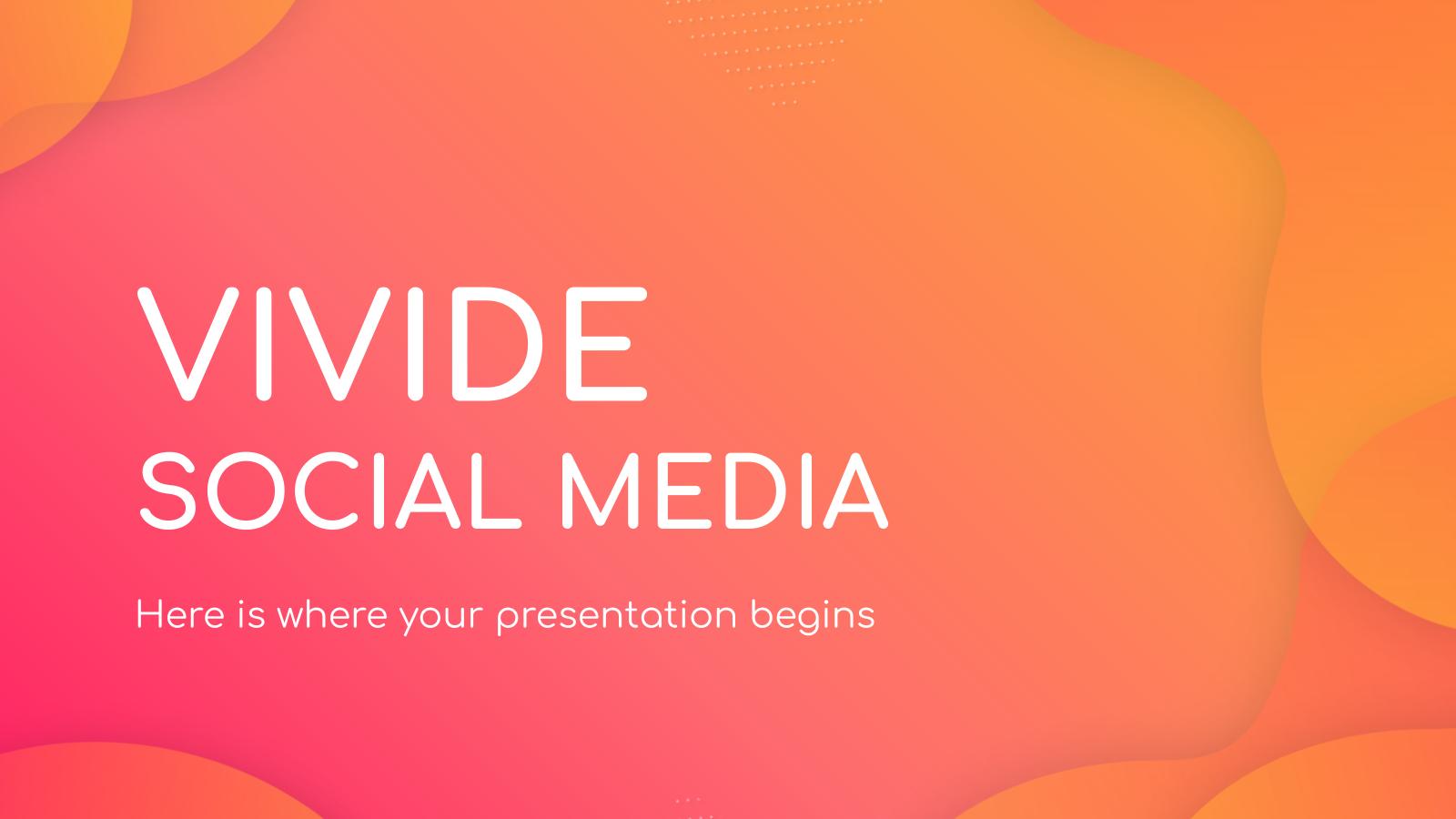Plantilla de presentación Redes sociales Vivide
