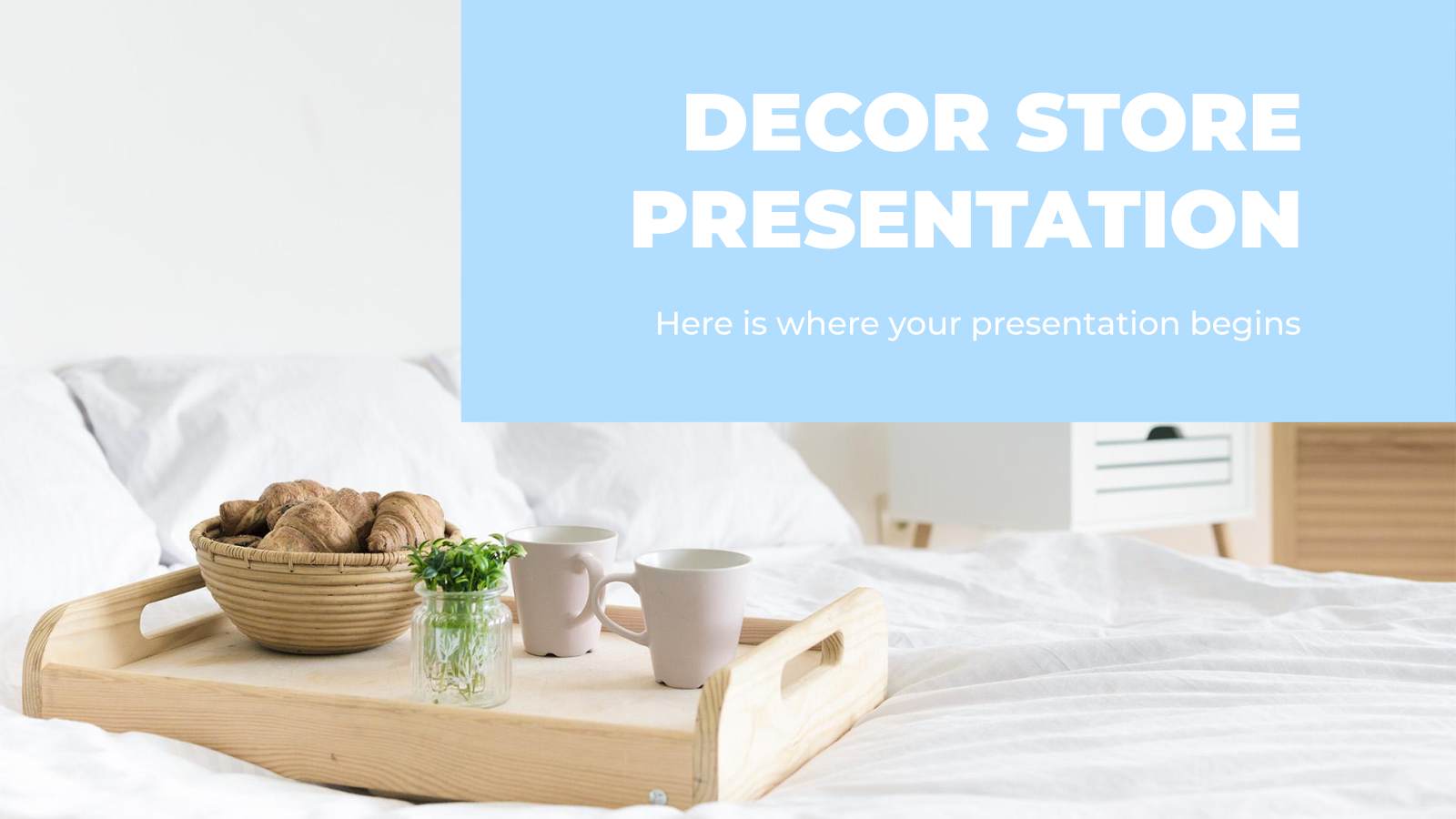 Decor Store presentation template