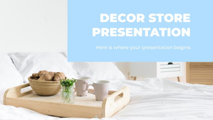 Plantilla de presentación Tienda de decoración del hogar