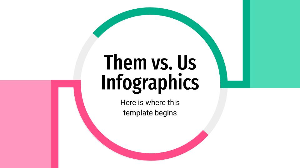 Modelo de apresentação Infográficos nós x eles