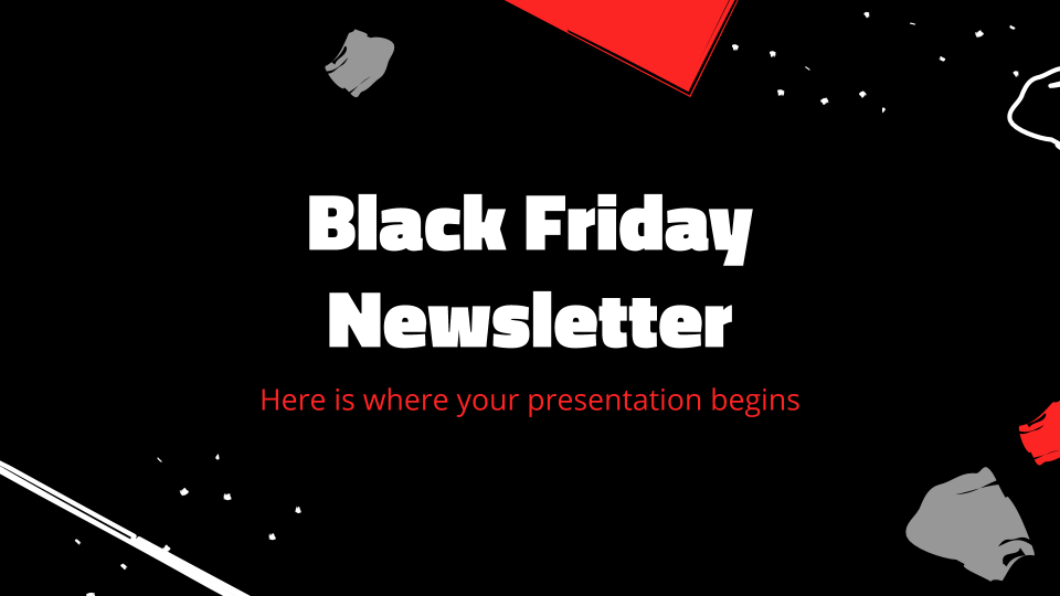 Black Friday Newsletter presentation template