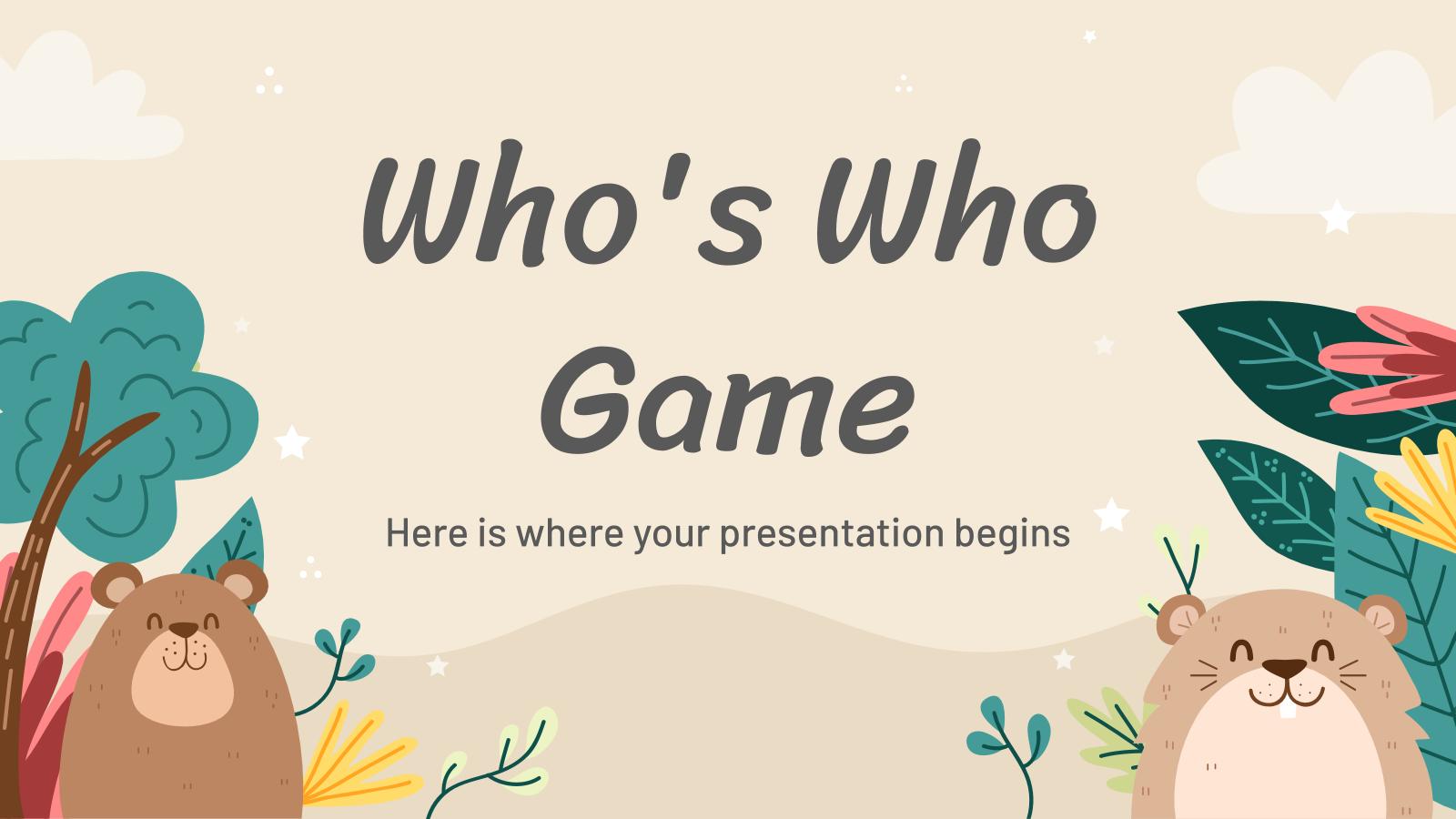 Jeu «Qui est qui ?» : Modèles de présentation