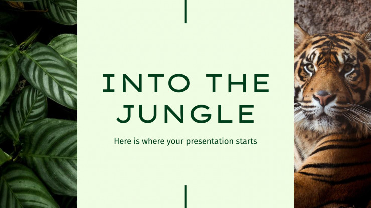 Into the Jungle presentation template