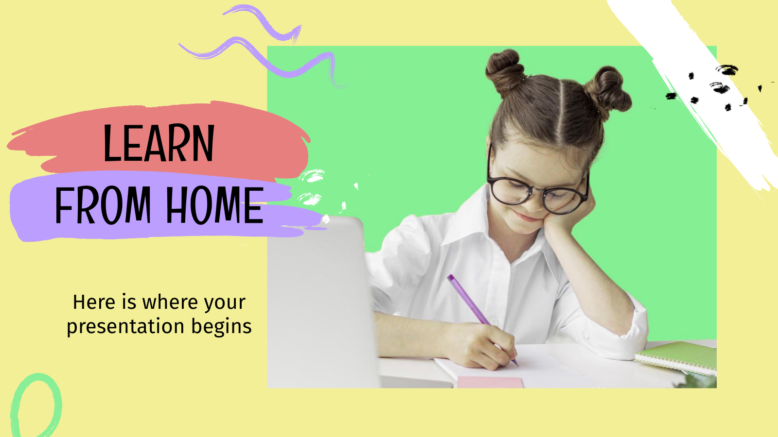Learn from Home presentation template
