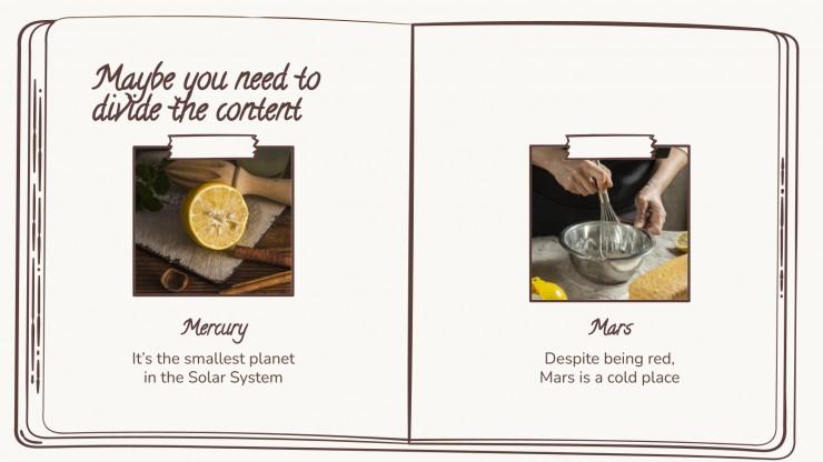 Le livre de recettes de grand-mère : Modèles de présentation