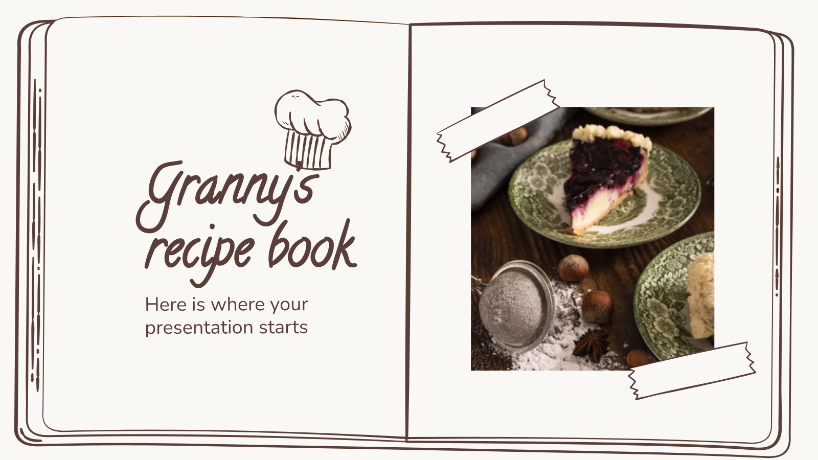 Granny's Recipe Book presentation template