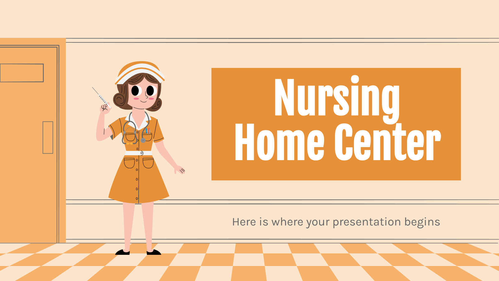 Nursing Home Center presentation template