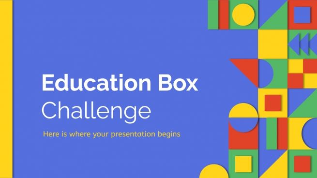 Education Box Challenge presentation template