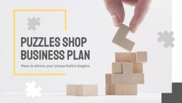 Puzzles Shop Business Plan presentation template