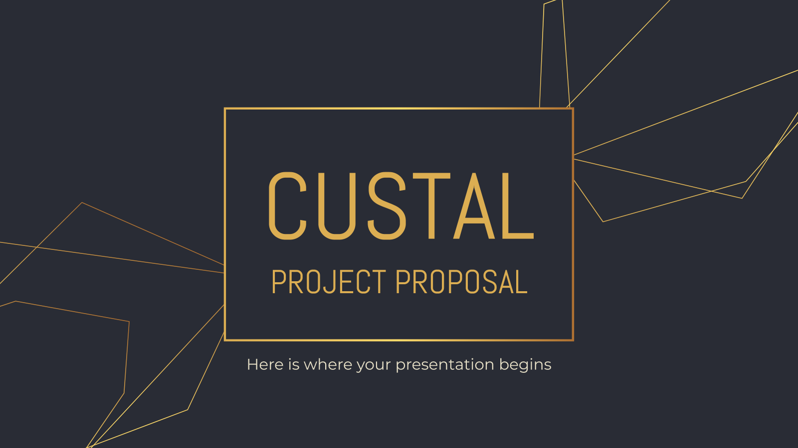 Custal Project Proposal presentation template