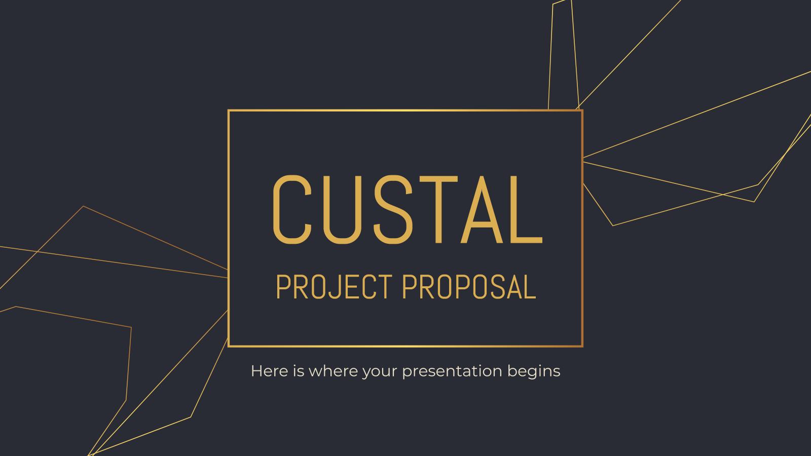 Modelo de apresentação Proposta de projeto Custal
