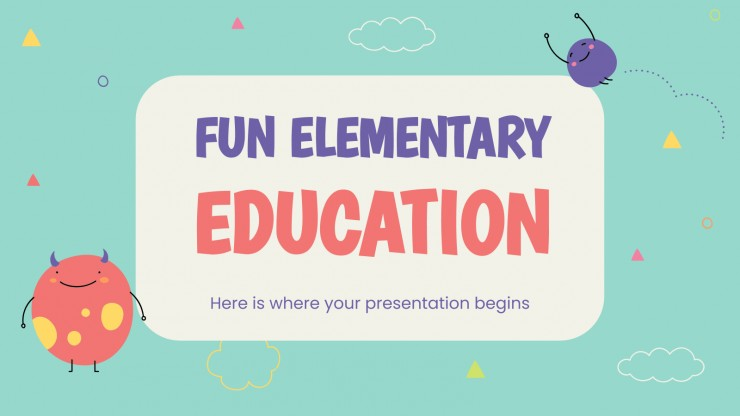 Fun Elementary Education presentation template