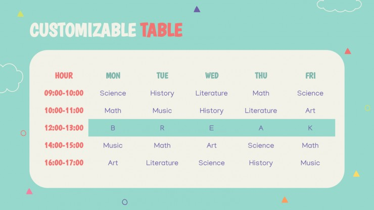 Éducation primaire ludique : Modèles de présentation
