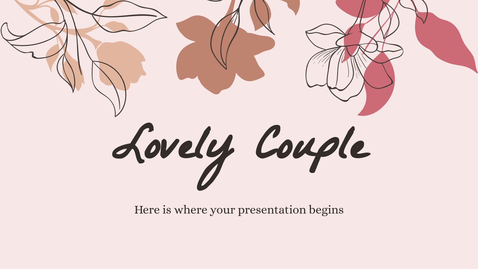 Lovely Couple presentation template