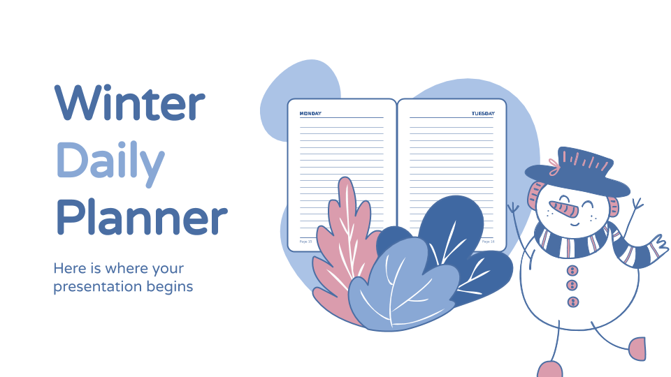 Winter Daily Planner presentation template