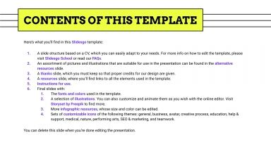 Plantilla de presentación CV para marketing