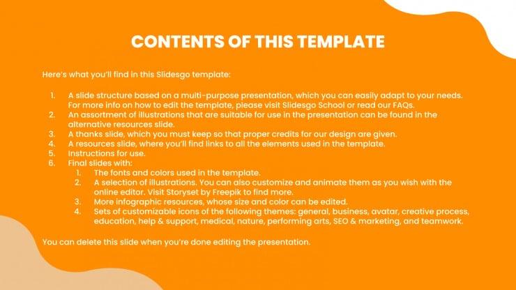 Orange Waves Digital Marketing presentation template