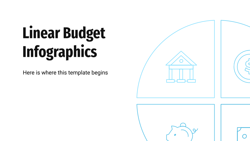 Linear Budget Infographics presentation template