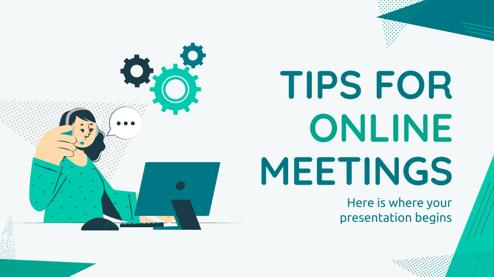 Tips for Online Meetings presentation template