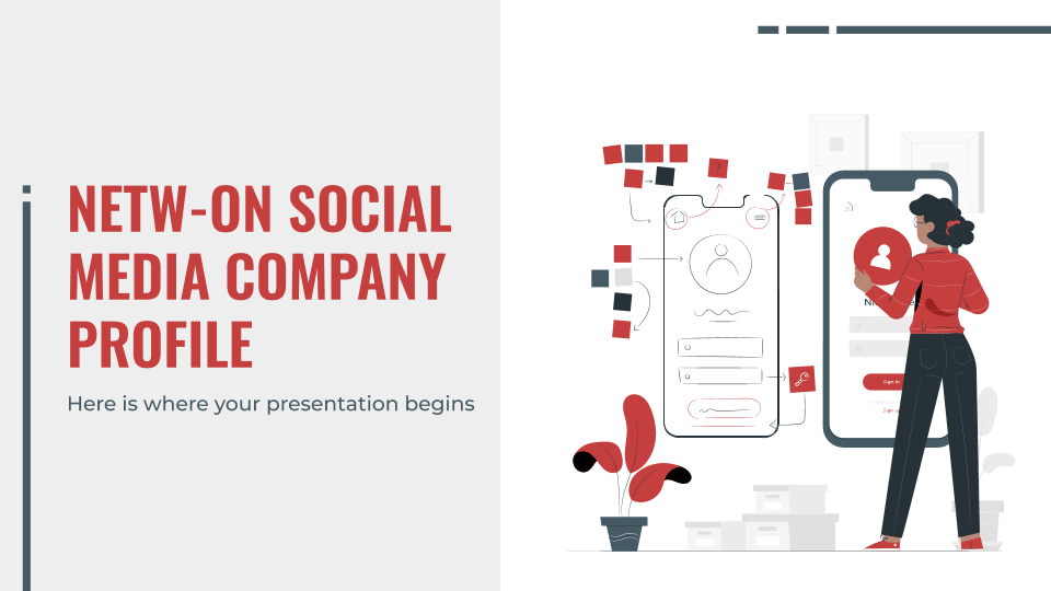 Newt-on Social Media Company Profile presentation template