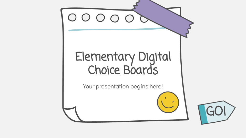 Elementary Digital Choice Boards presentation template