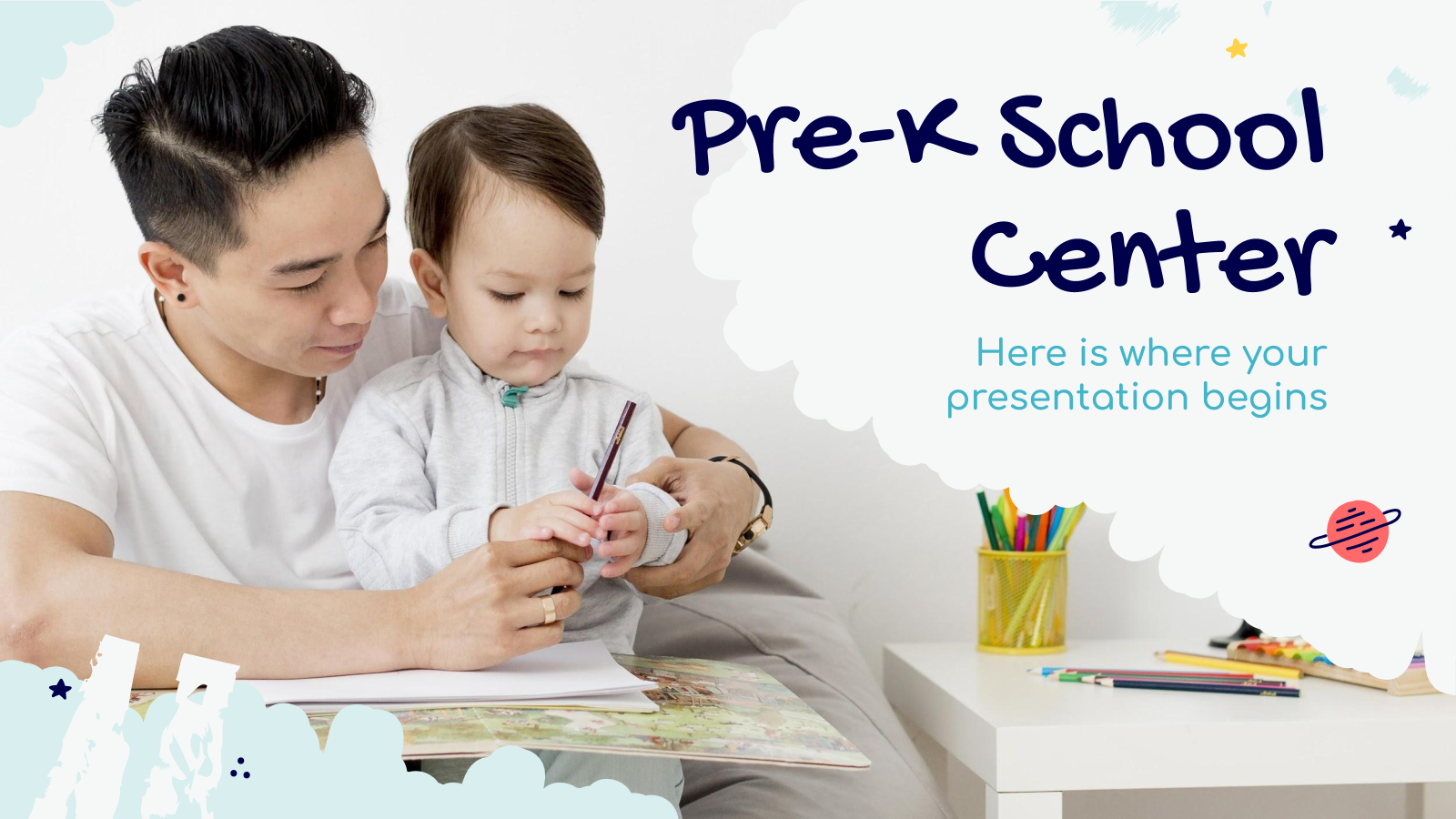 Pre-K School Center presentation template