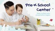 Pre-K School Center presentation template