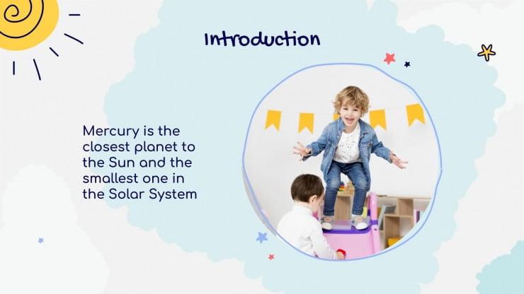 Plantilla de presentación Educación preescolar