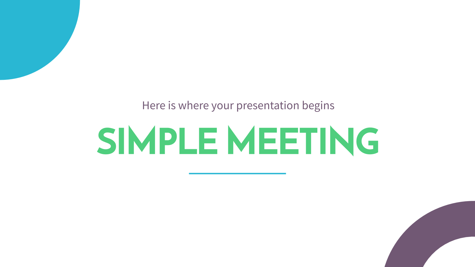 Réunion simple : Modèles de présentation