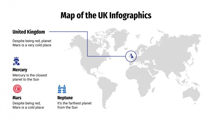Map of the UK Infographics presentation template