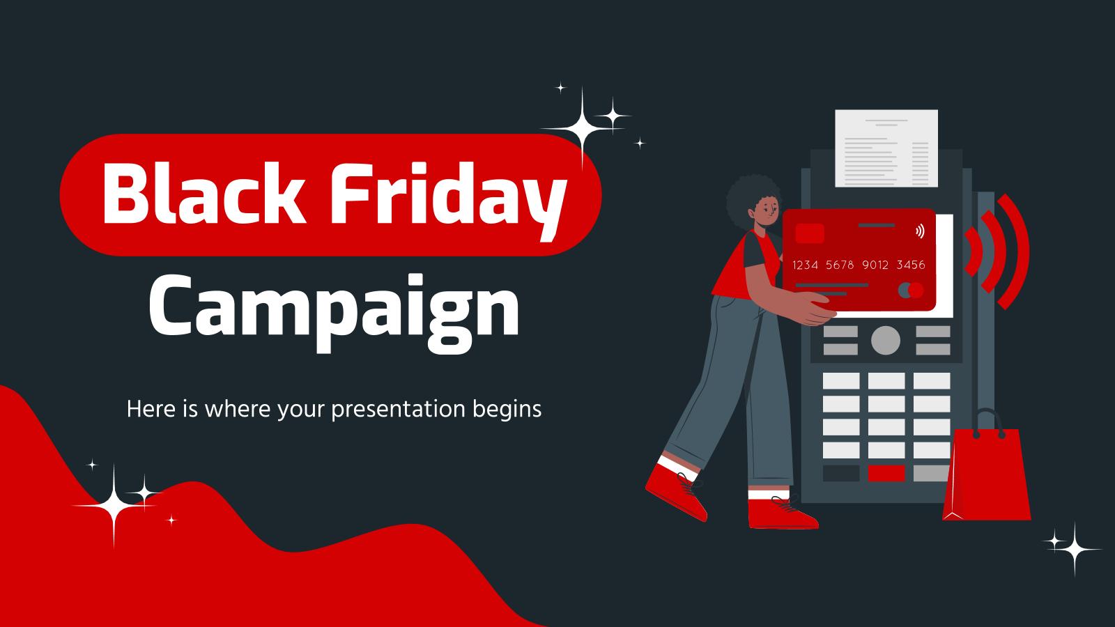 Plantilla de presentación Campaña para el Black Friday