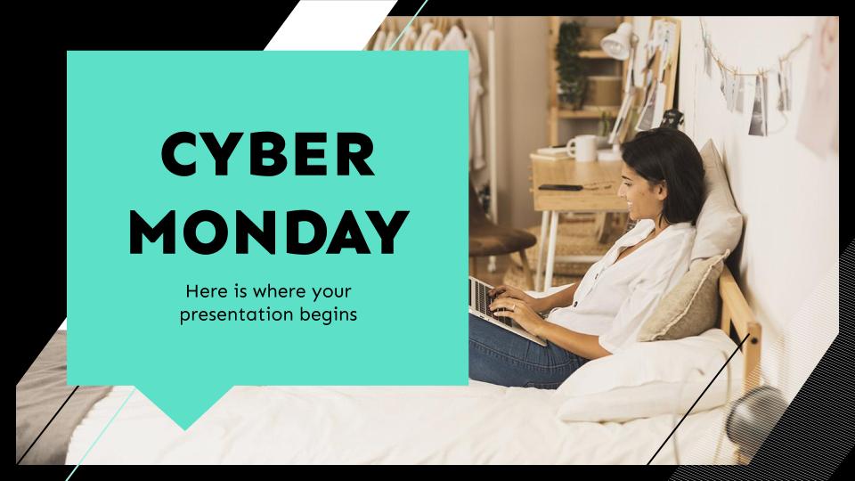 Cyber Monday : Modèles de présentation