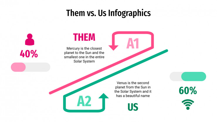Them vs. Us Infographics presentation template