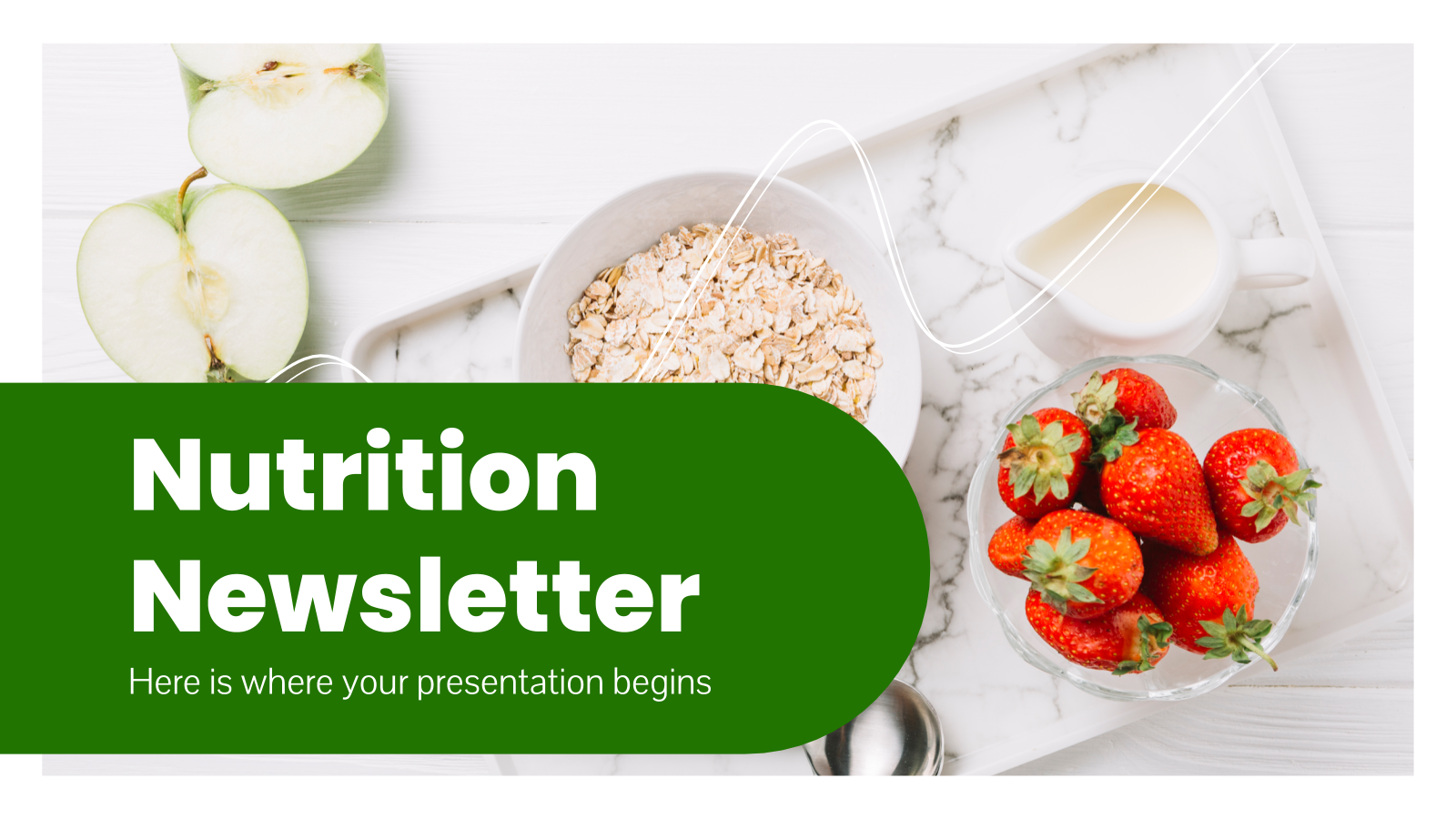 Nutrition Newsletter presentation template