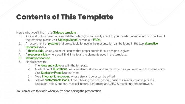 Modelo de apresentação Newsletter de nutrição